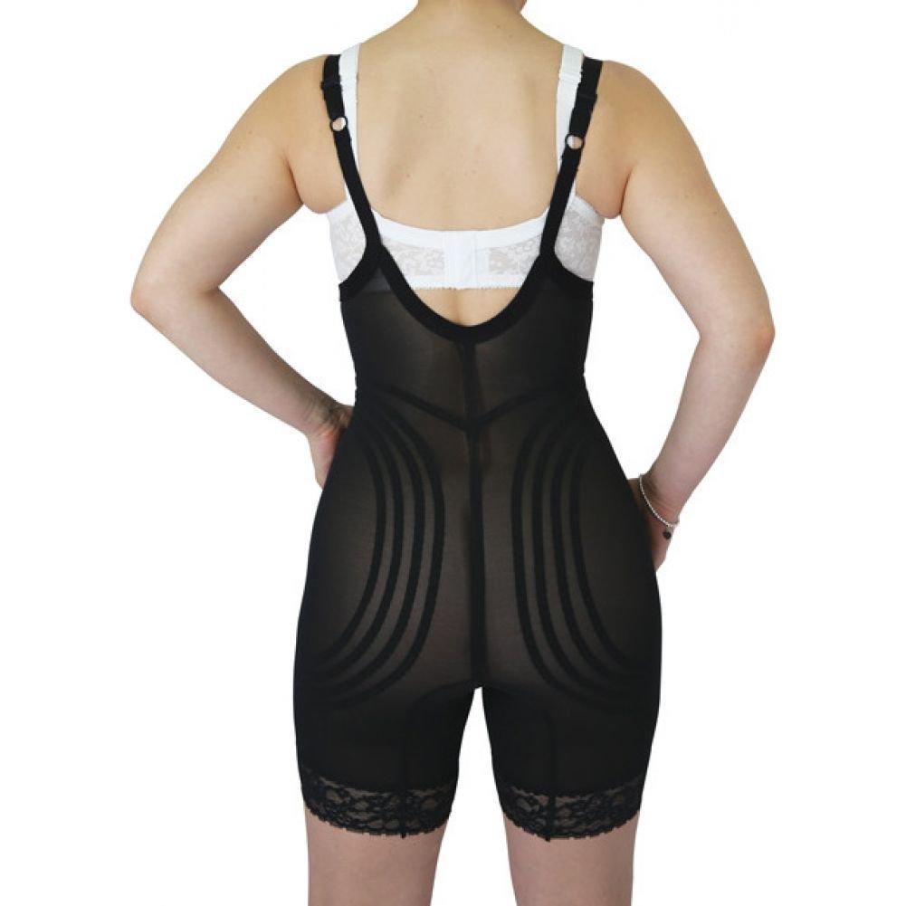 Rago Shapewear Wear Your Own Bra Body Shaper Black Extra Large - View #2