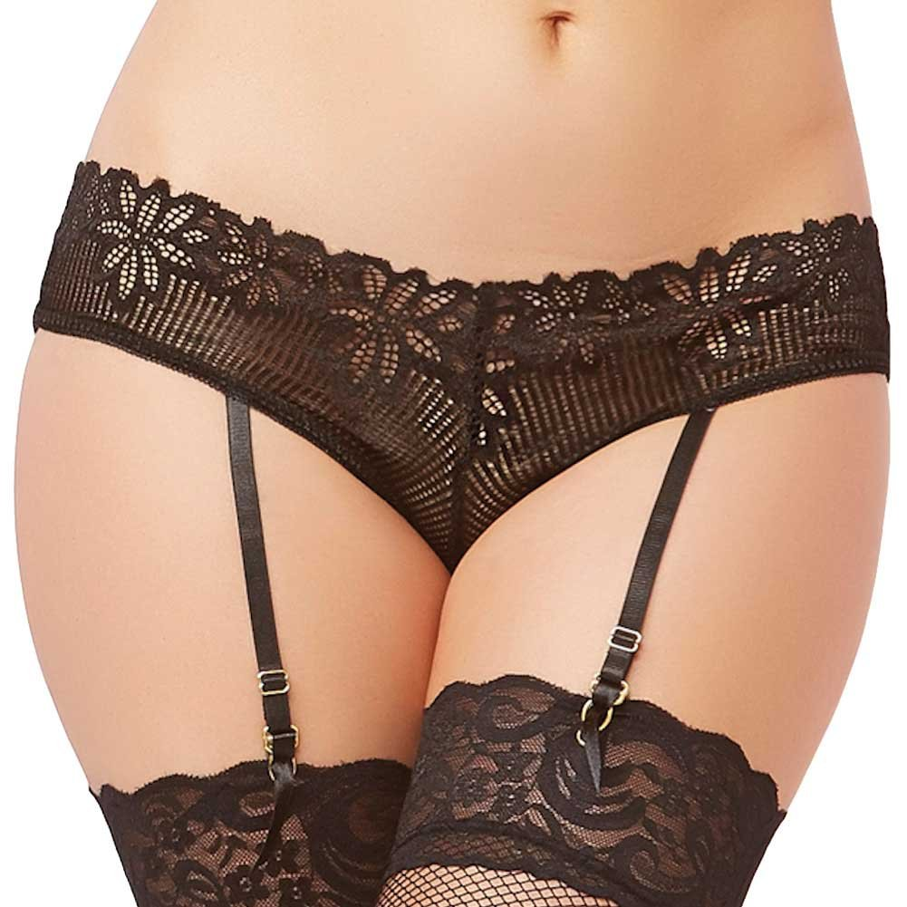 Tropical Lace Panty Black Extra Large - View #1