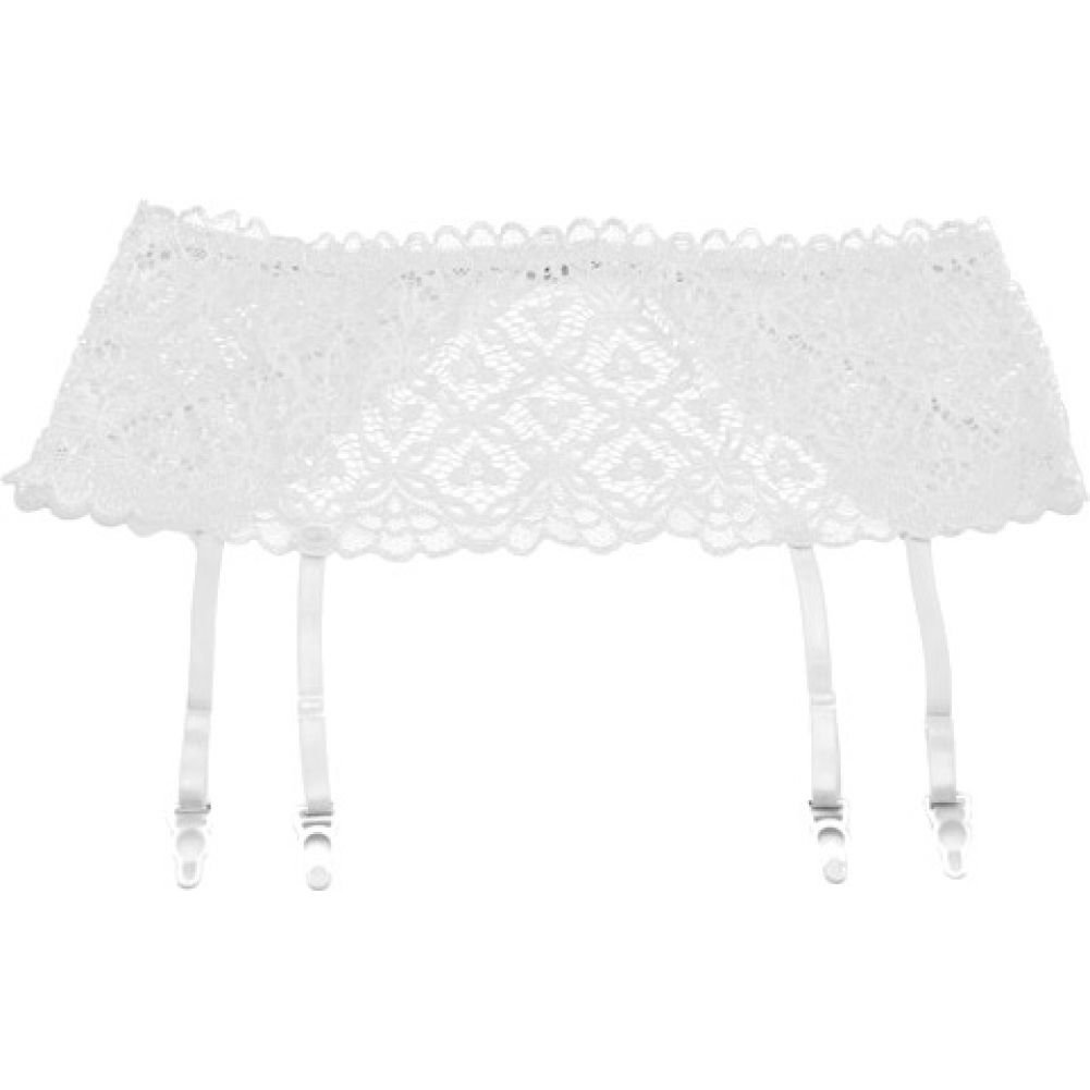 "Stretch Lace 5"" Band Garter White 1X 2X - View #1"