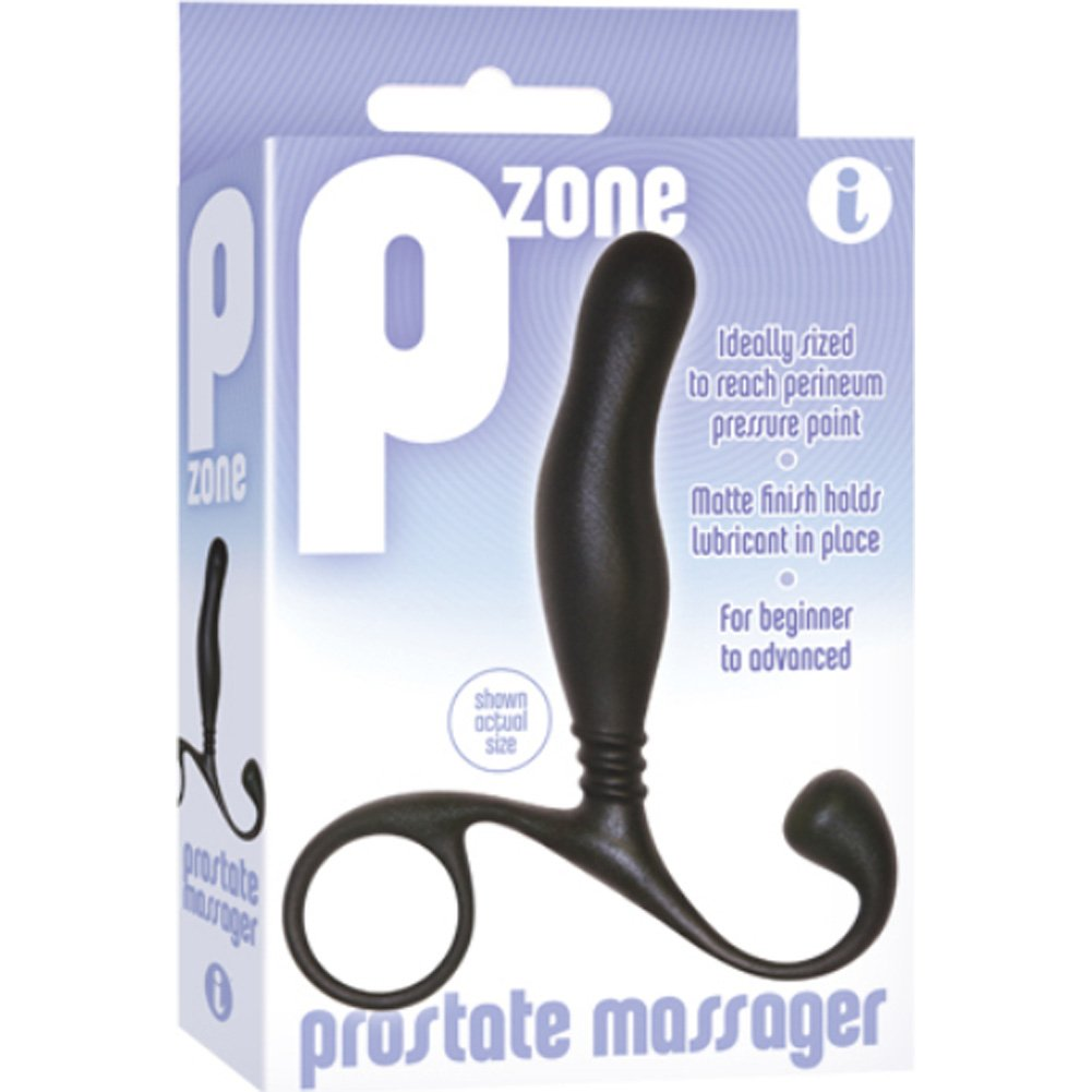 "Icon Brands P Zone Prostate Massager for Men 5.5"" Black - View #1"