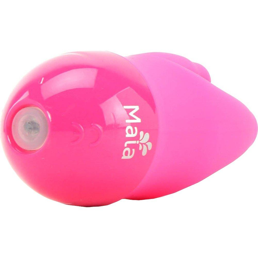 """Maia Dahlia Silicone Triple Clip Vibrator 3"""" Neon Pink - View #4"""