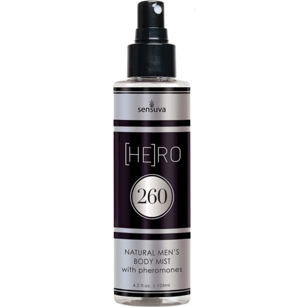 Sensuva Hero 260 Natural MenS Body Mist with Pheromones 4.2 Oz Spray - View #1