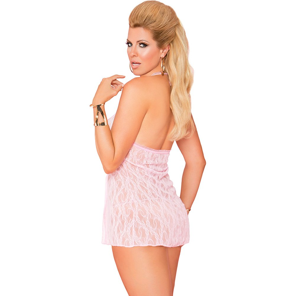 Vivace Lace Baby Doll and G-String Baby Pink Queen - View #2