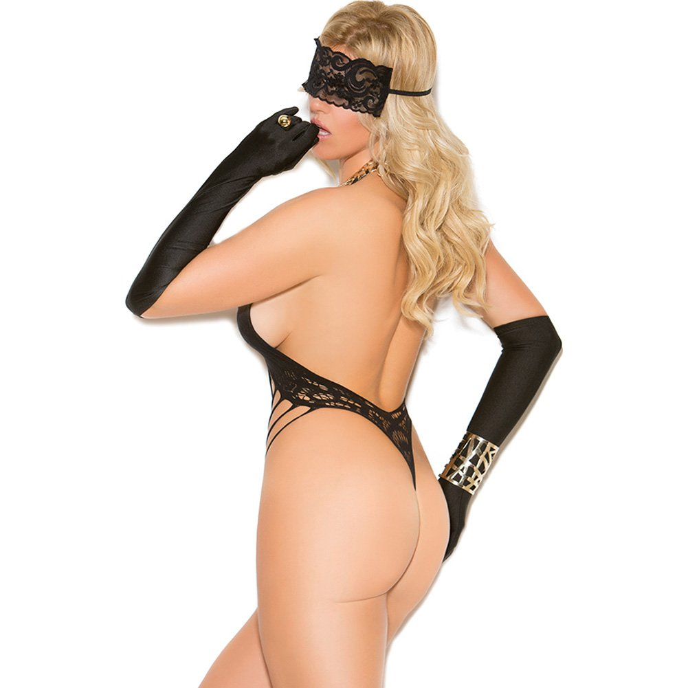 Vivace Lace Teddy and Eye Mask Black Queen - View #2