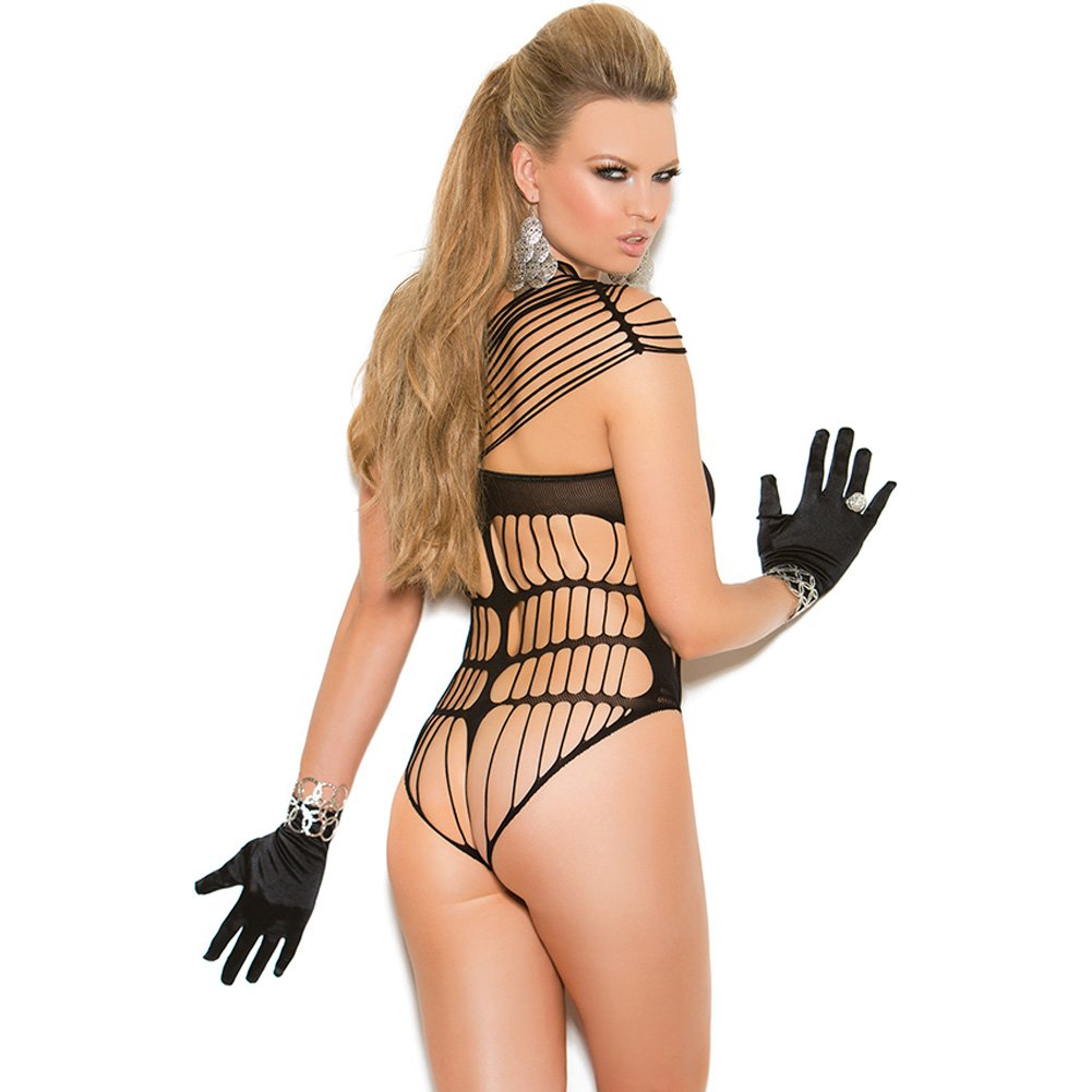 Vivace Crochet Strappy Teddy Black One Size - View #2
