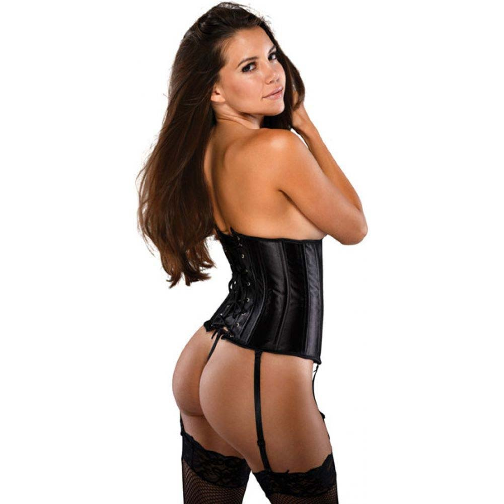 Bonitaz Waist Cincher Corset with G-String Large Black - View #2