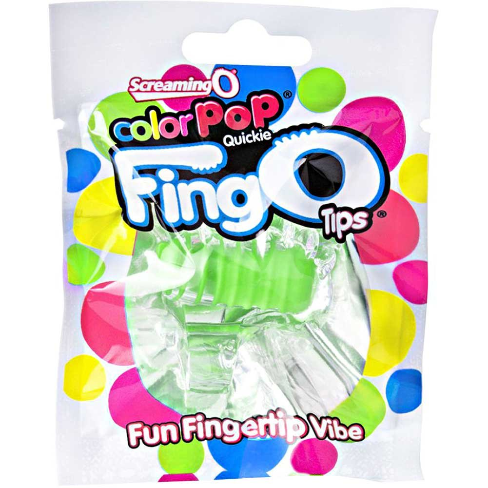 Screaming O Color Pop Fingo Tip Vibrator Green - View #1