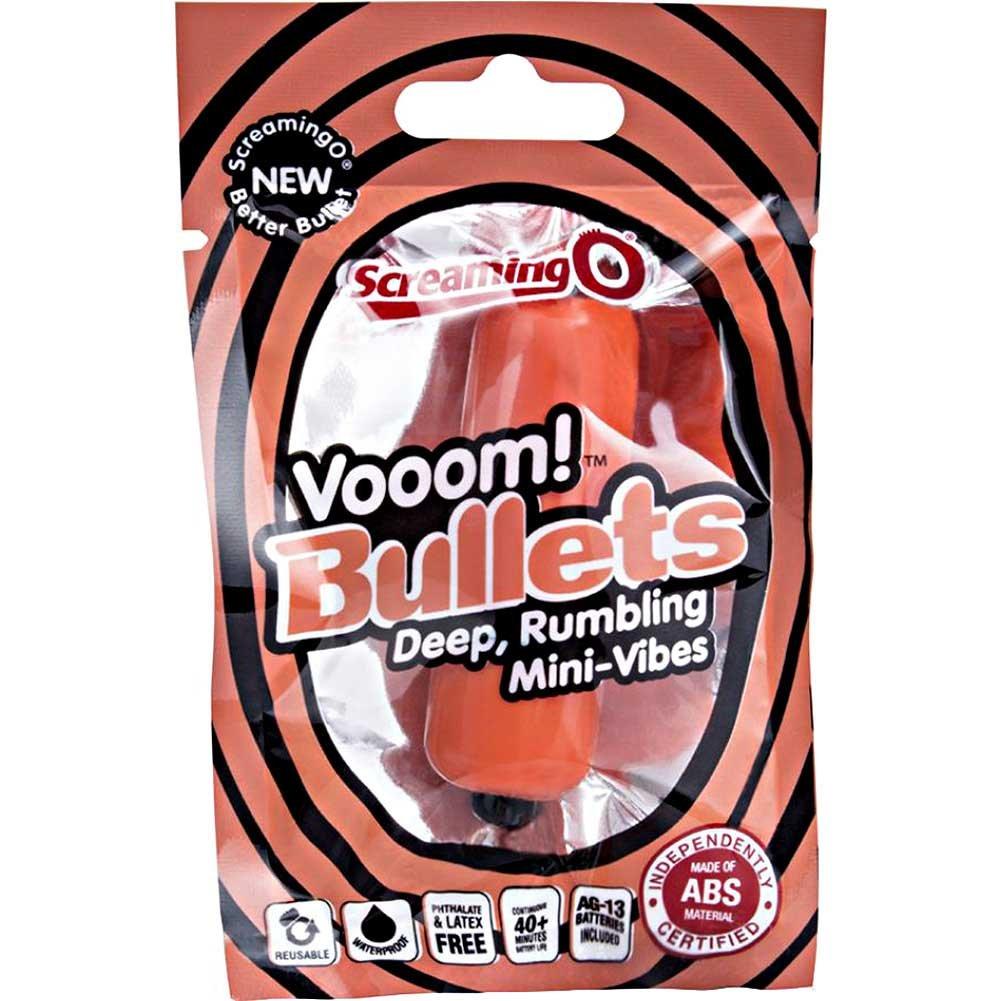 """Screaming O Vooom Bullets Deep Rumbling Mini Vibe 3"""" Tangerine - View #1"""