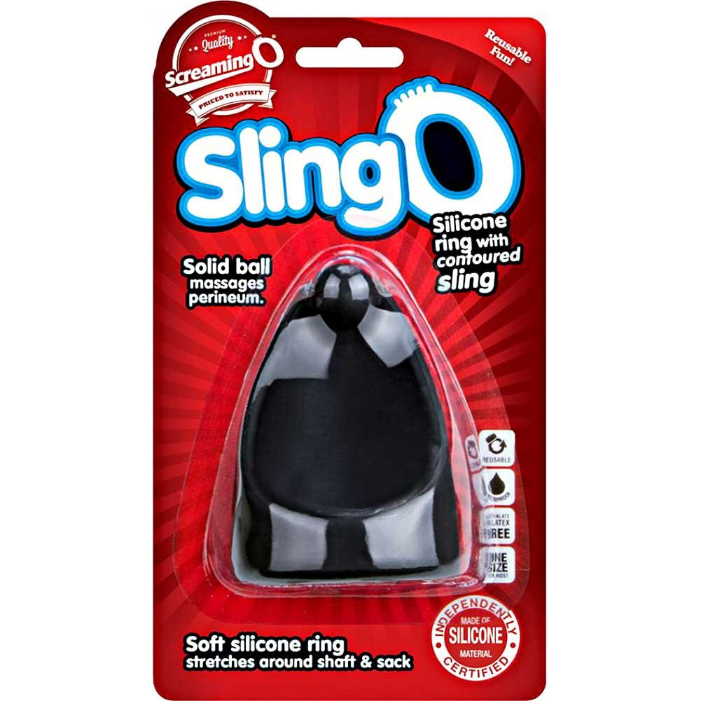 Screaming O Silicone Slingo Cock Ring Black - View #1