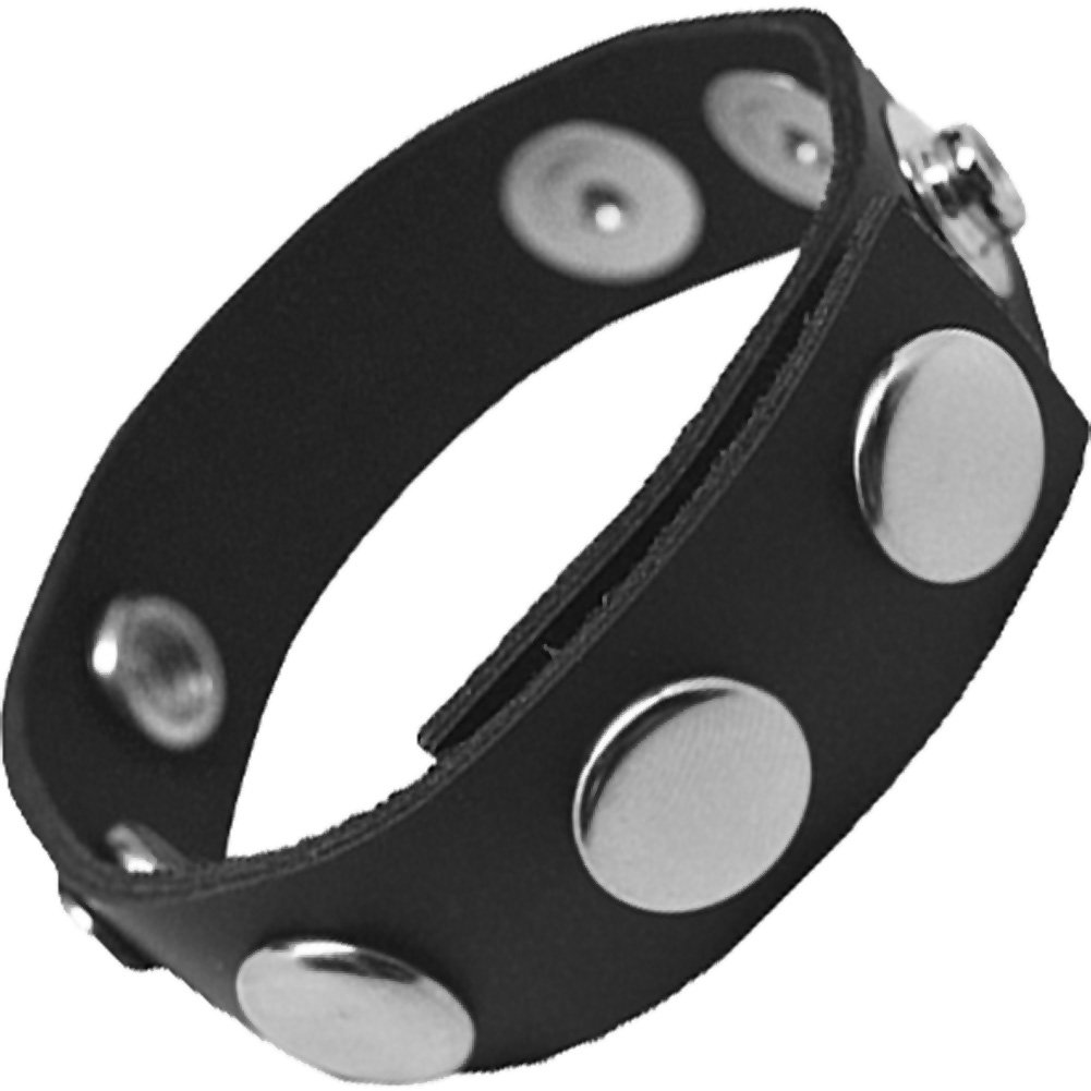 Rock Solid Adjustable 5 Snap Cock Ring Black - View #2