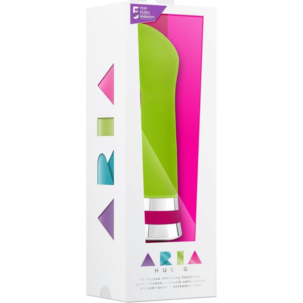 "Blush Aria Hue G Silicone Vibrator 6.5"" Green - View #1"