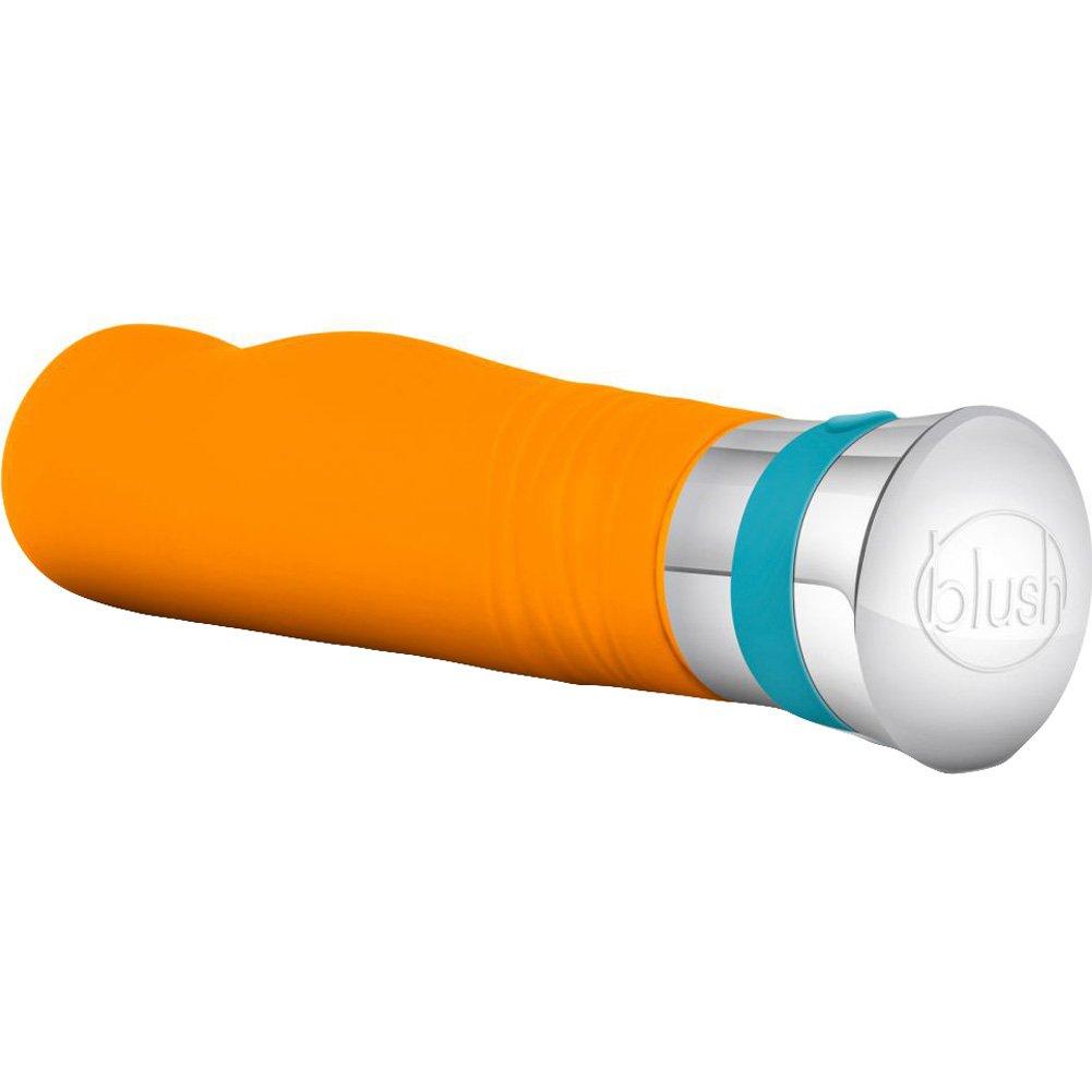 "Blush Aria Lucent Silicone Vibrator 6.75"" Tangerine - View #4"
