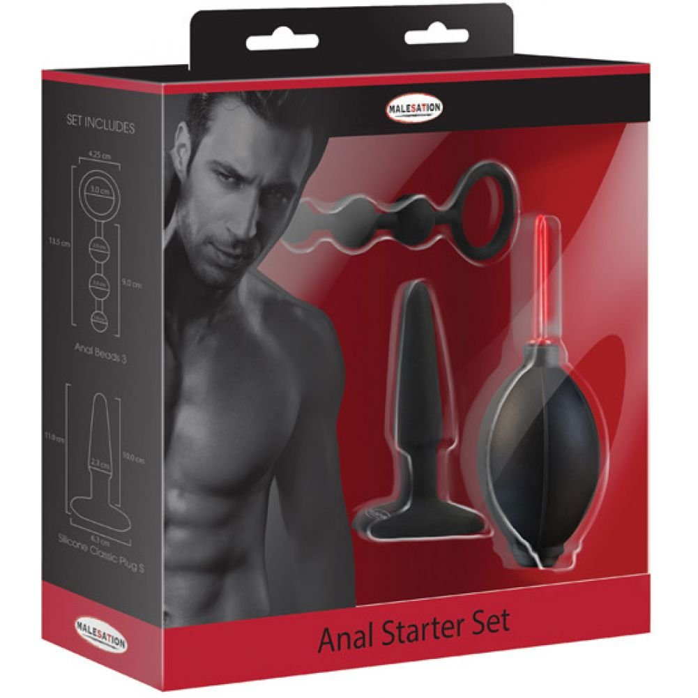 Malesation 3 Piece Silicone Anal Starter Kit Black - View #3