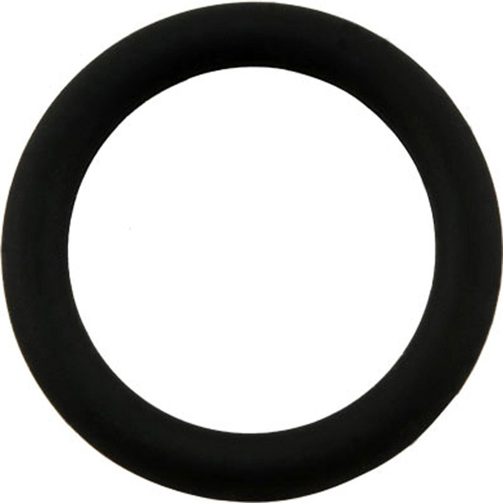 Malesation Silicone Cock Ring Medium Black - View #2