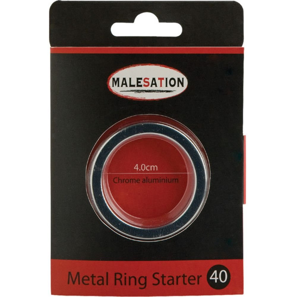 Malesation Metal Starter Ring 40 Mm Silver - View #1