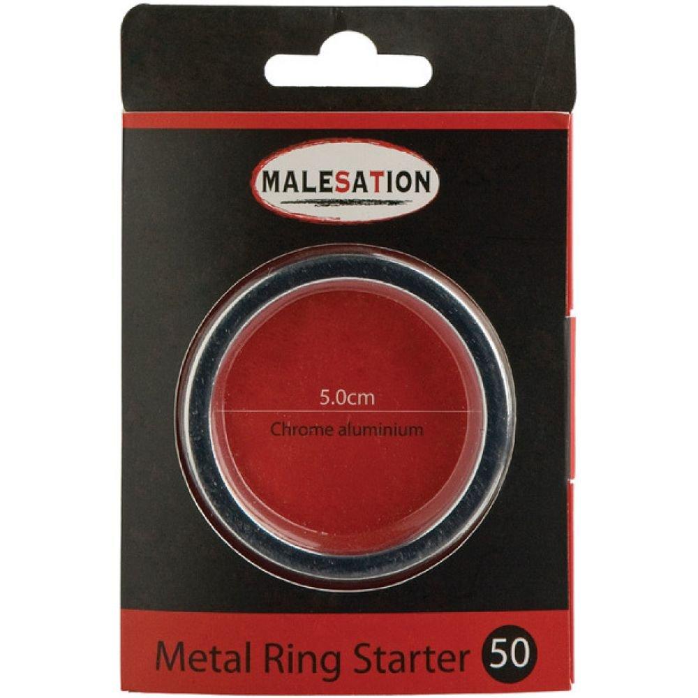 Malesation Metal Starter Ring 50 Mm Silver - View #1