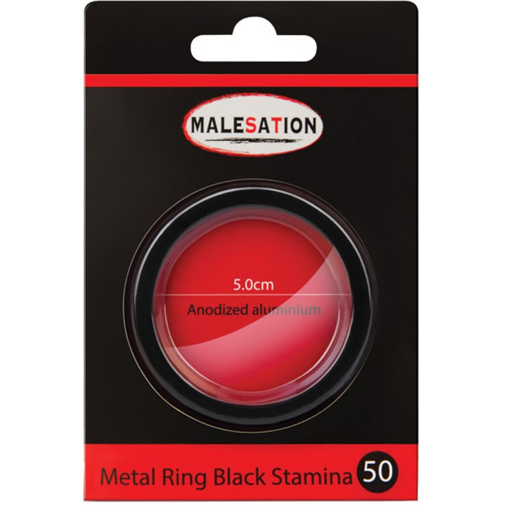 Malesation Nickel Free Metal Stamina Ring Black 50 Mm - View #1