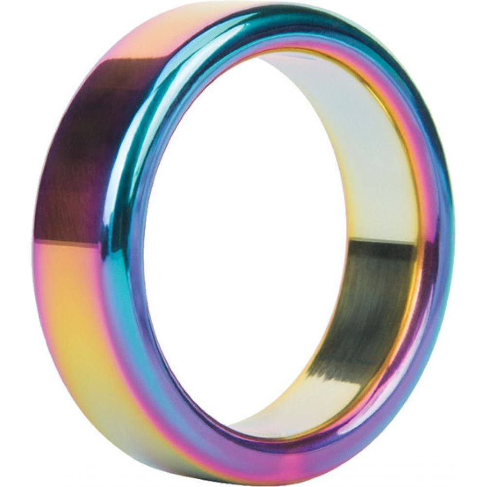 Malesation Nickel Free Stainless Steel Rainbow Cock Ring 44 Mm - View #2