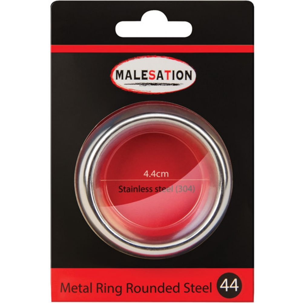 Malesation Nickel Free Stainless Steel Rounded Cock Ring 44 Mm - View #1