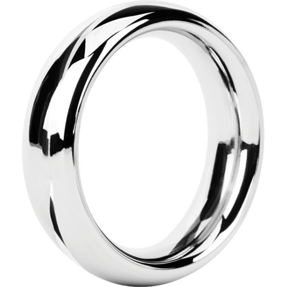 Malesation Nickel Free Stainless Steel Rounded Cock Ring 48 Mm - View #2