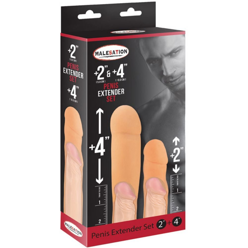 "Malesation 2"" and 4"" Penis Extenders - View #1"