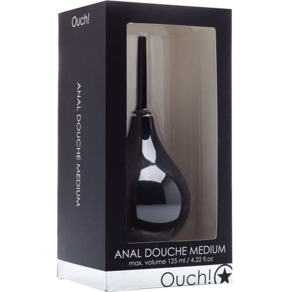 "Shots Ouch Anal Douche 3.35"" Black - View #1"