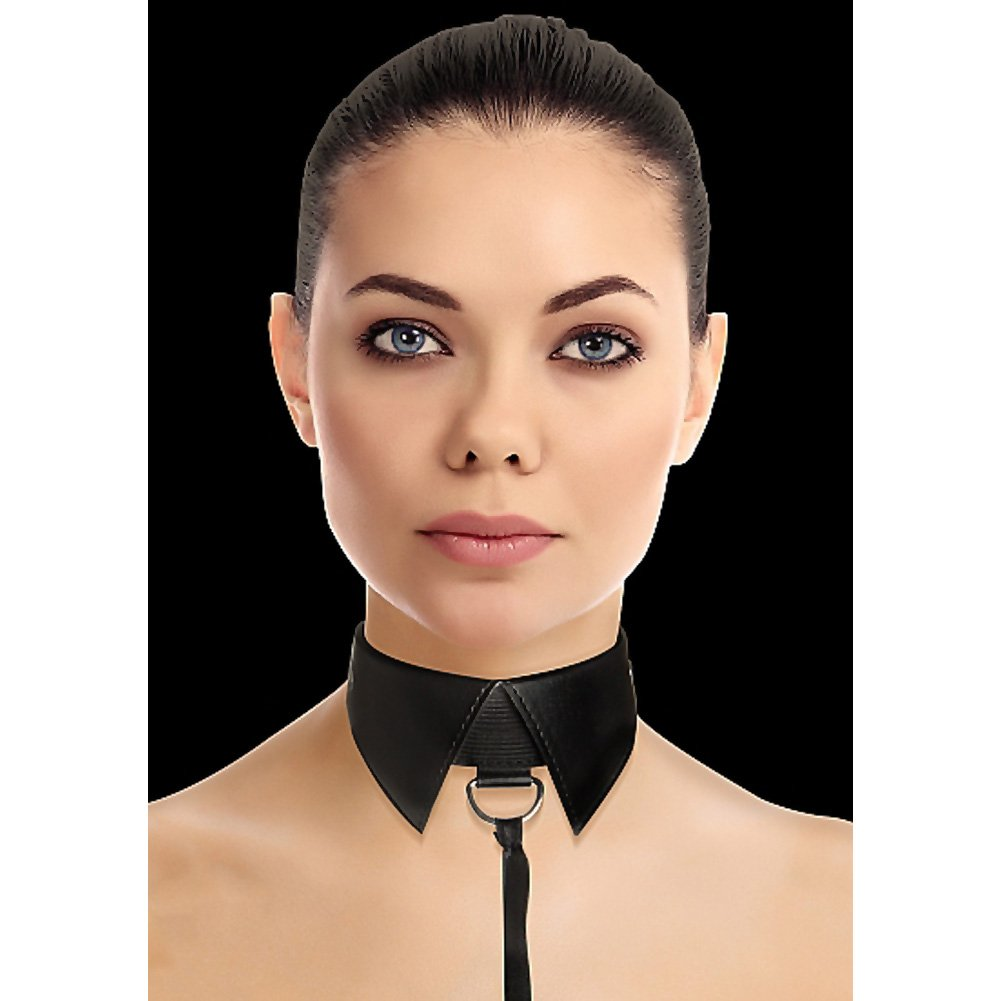 Shots Ouch Classic Collar with Leash Black - View #1