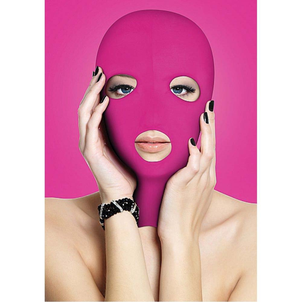 Ouch Subversion 3 Hole Hood Mask One Size Pink - View #2
