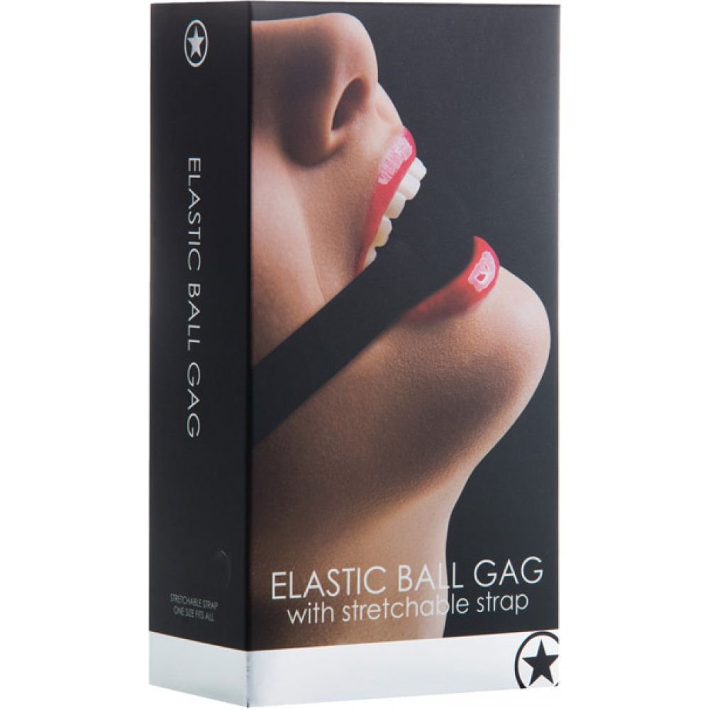 Ouch Elastic Ball Gag Black - View #1