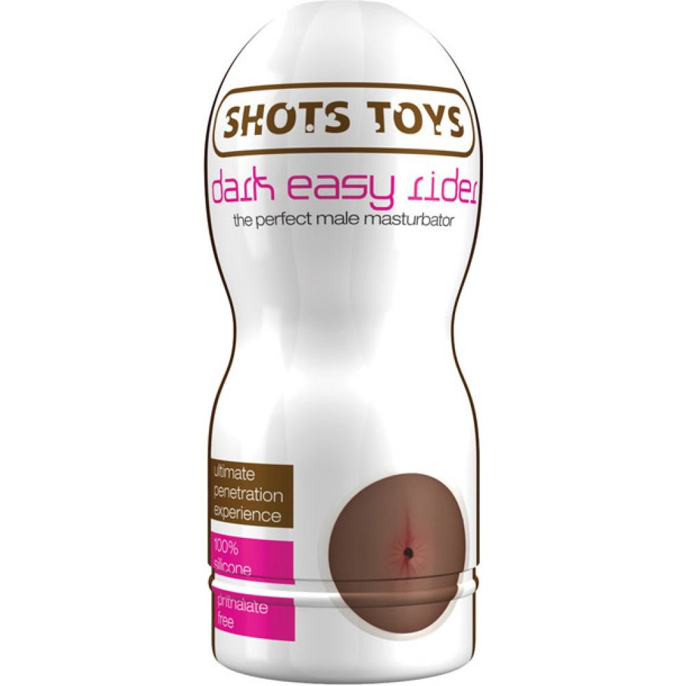 Shots Toys Dark Easy Rider Male Masturbator with Anal Opening - View #4