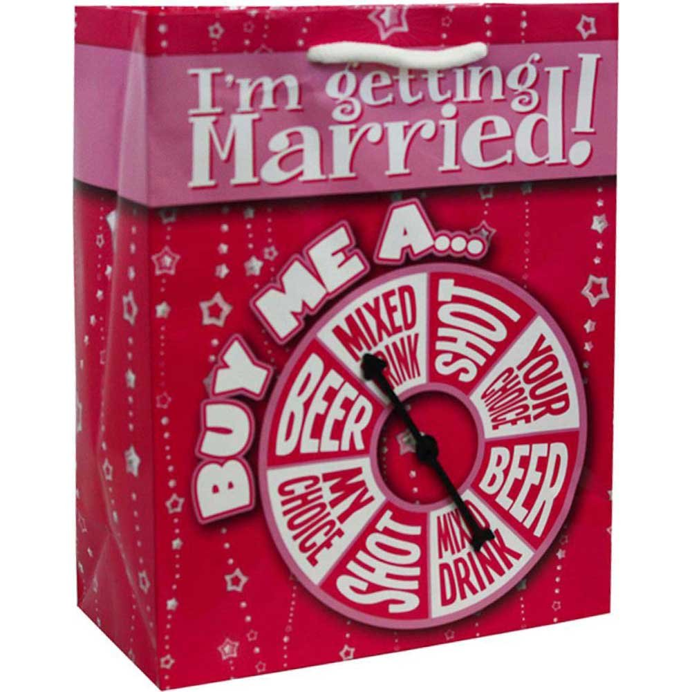 Kalan IM Getting Married Buy Me A...Spinner Gift Bag Pink - View #1