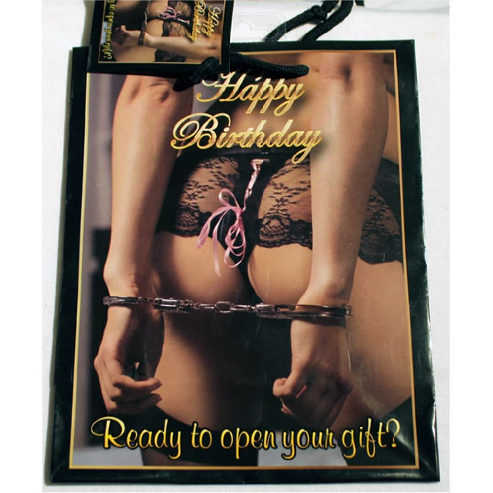 Kalan Happy Birthday Women with Hands Cuffed Behind Her Back Gift Bag - View #1