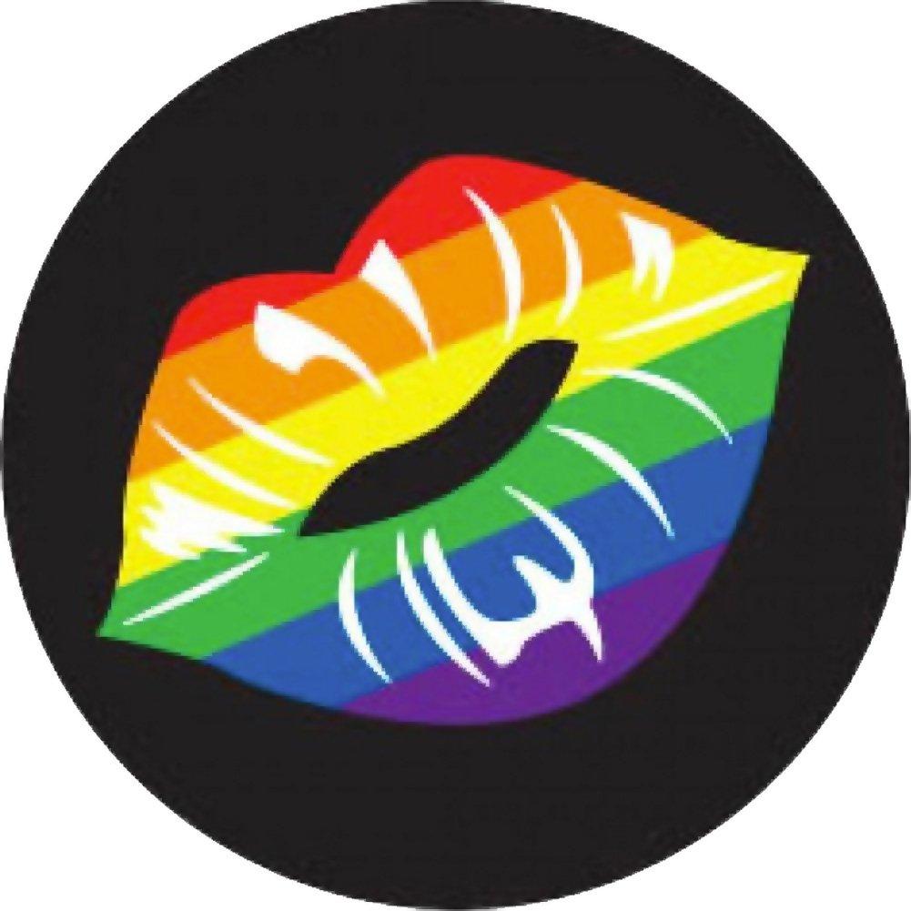 "Kalan Rainbow Lips 3"" Button - View #1"