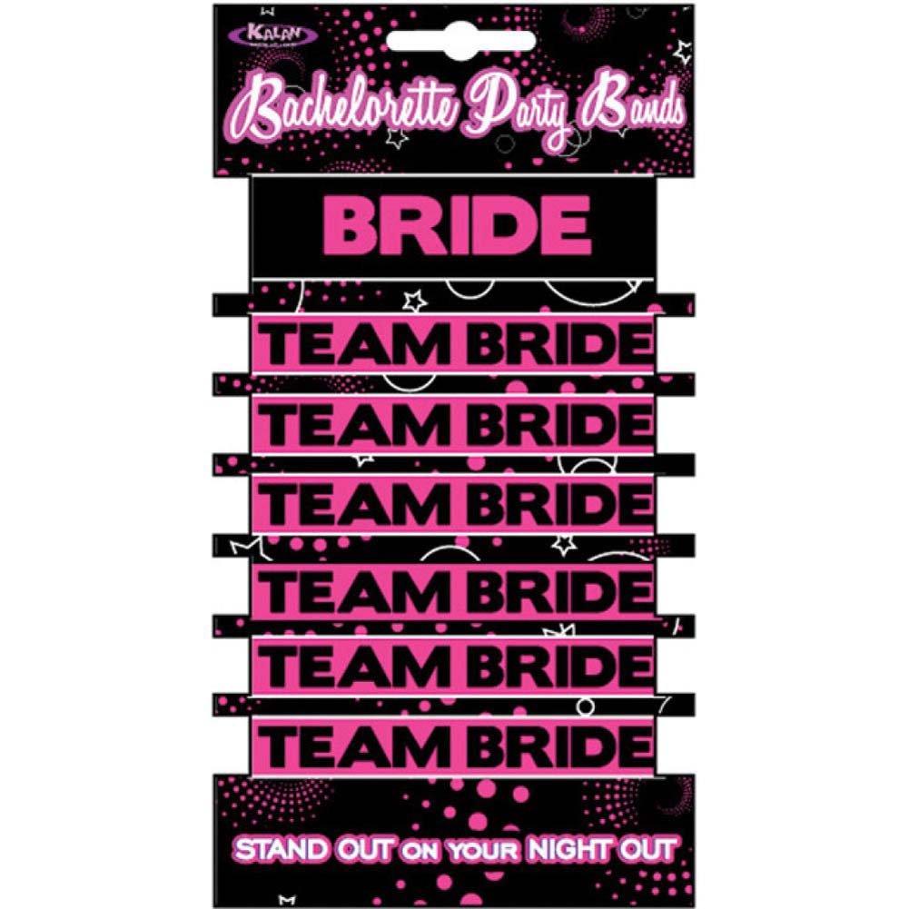 Kalan Bachelorette Party Bands 1 Bride and 6 Team Bride Bands - View #1