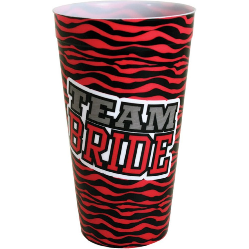 Kalan Team Bride Zebra Print Plastic Cup - View #1
