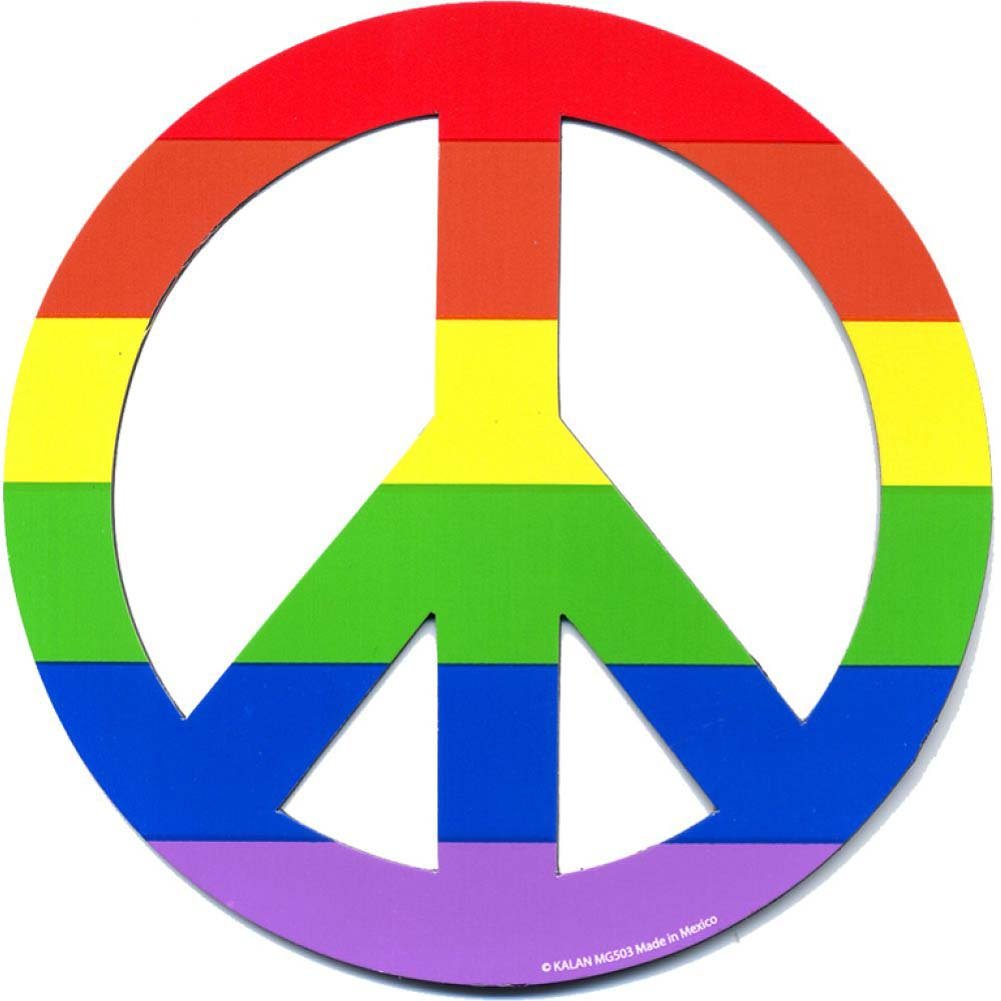 Rainbow Peace Bumper Magnet by Kalan - View #1