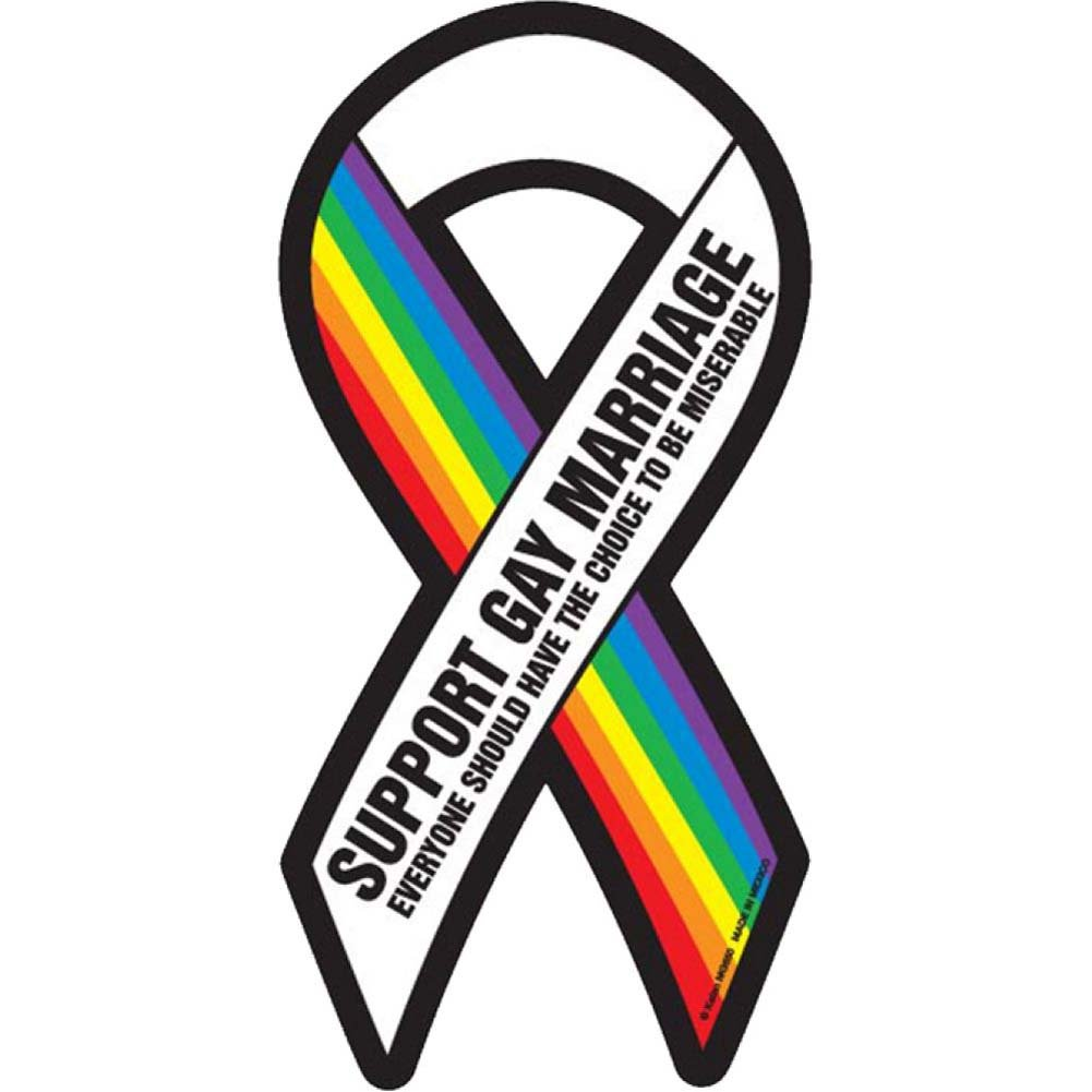 Support Gay Marriage Ribbon Magnet - View #1