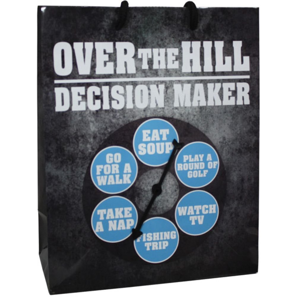 Over the Hill Decision Maker....Spinner Gift Bag - View #1