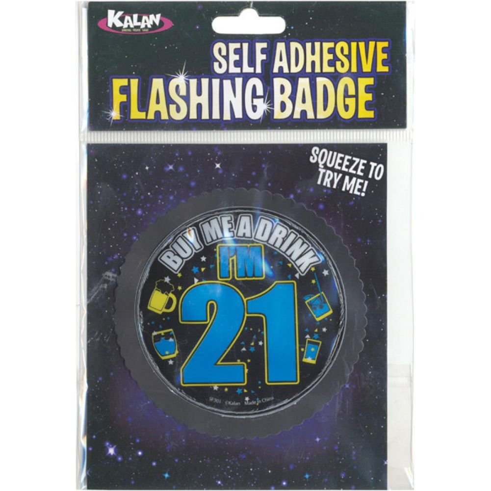 Flashing Badge with Self Adhesive Buy Me a Drink IM 21 - View #1