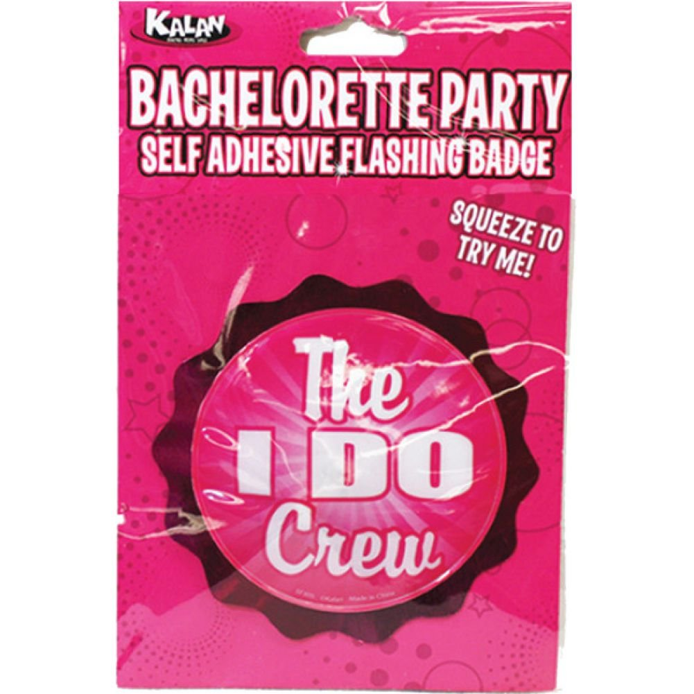 Bachelorette Party Flashing Badge with Self Adhesive the I Do Crew - View #1