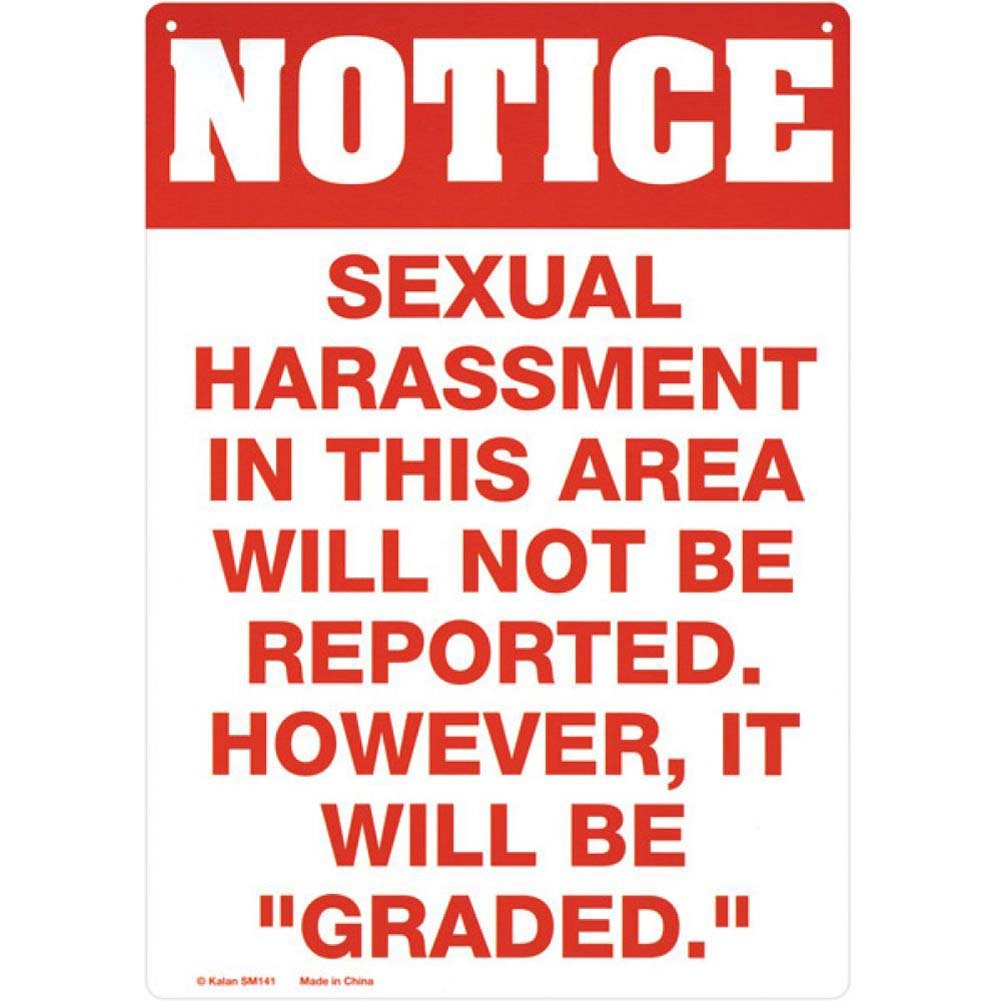 Sexual Harrassment Tin Sign - View #1