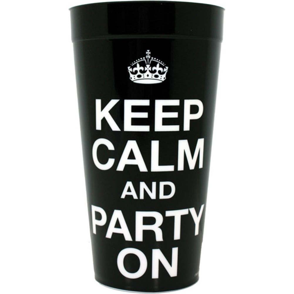 Keep Calm and Party On Plastic Cup - View #1