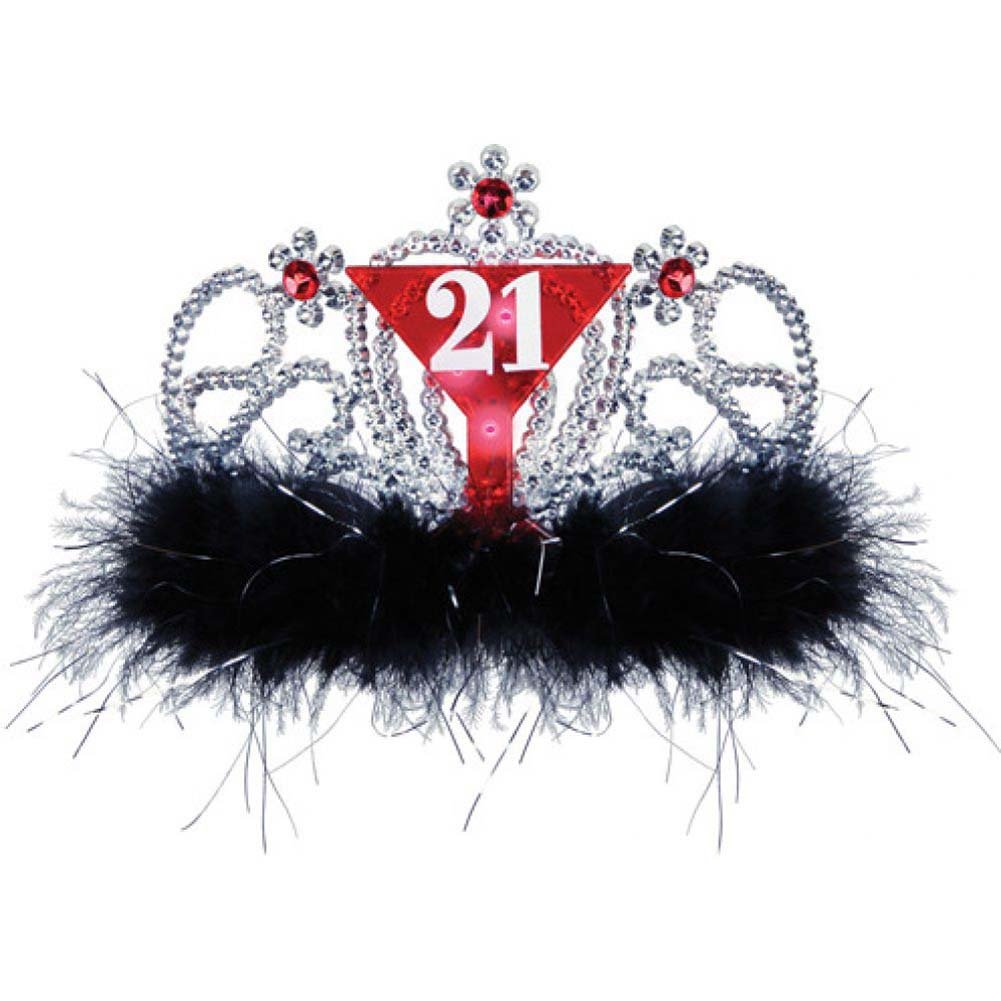21st Birthday Flashing Tiara - View #1