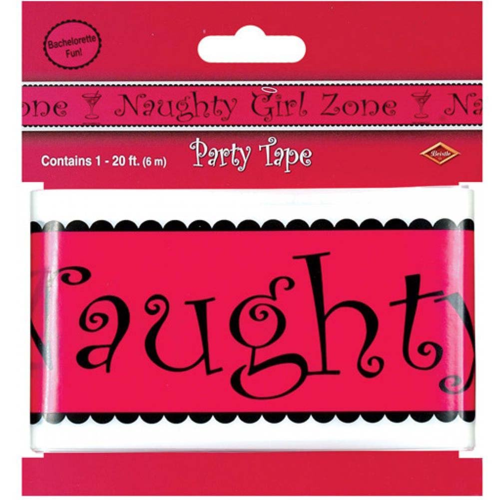 Bachelorette Fun Naughty Girl Zone Party Tape - View #1