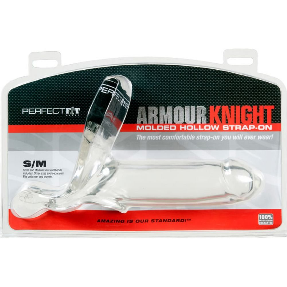 Perfect Fit Armour Knight Extra Large Strap-On with Two Waistbands Small/ Medium Clear - View #1