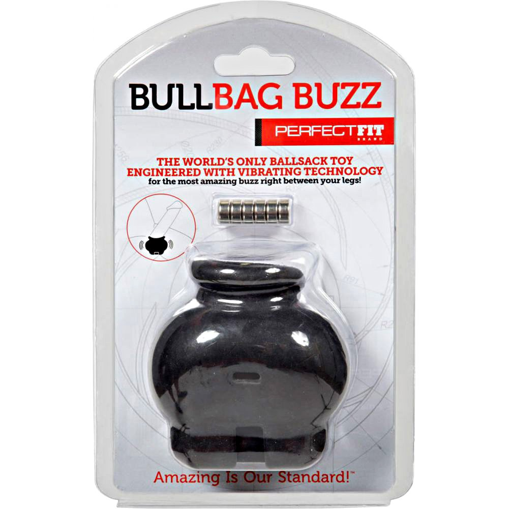 Perfect Fit Vibrating Bull Bag Buzz Black - View #1