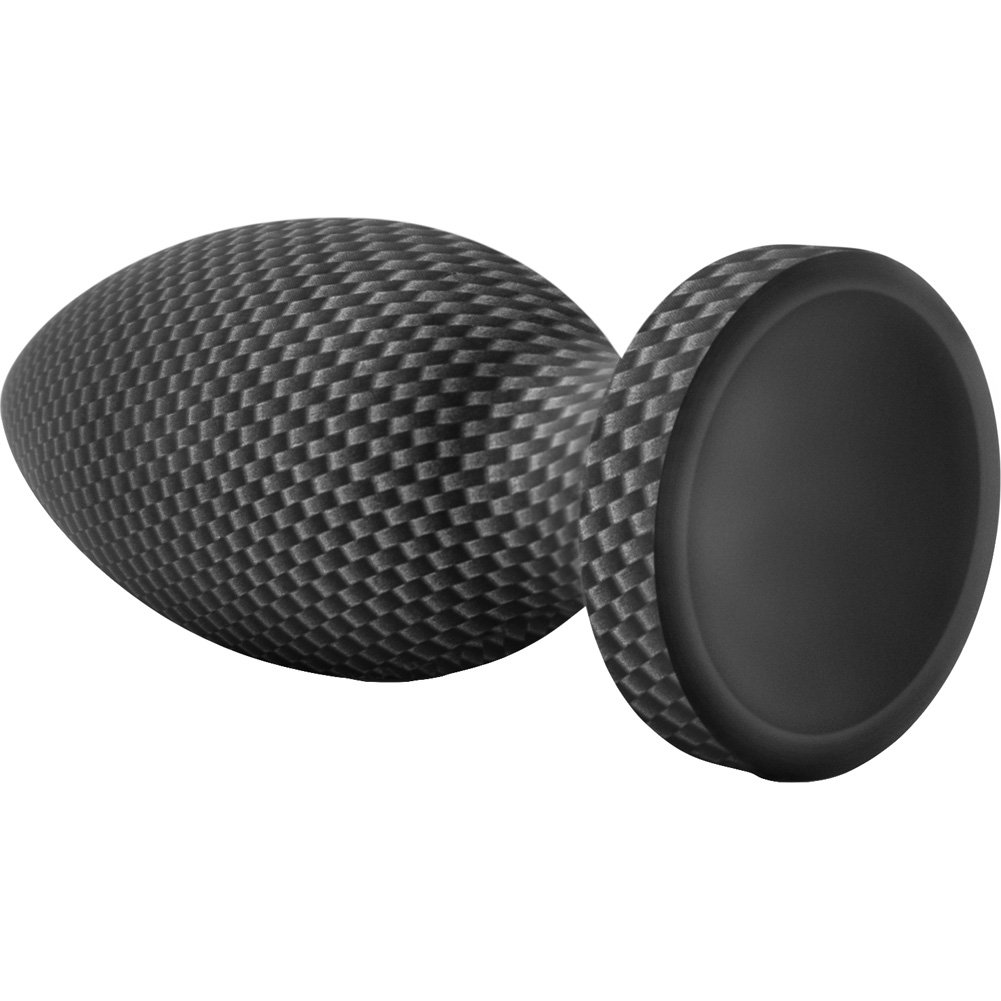 "Blush Spark Silicone Medium Butt Plug 5.25"" Carbon Fiber - View #3"