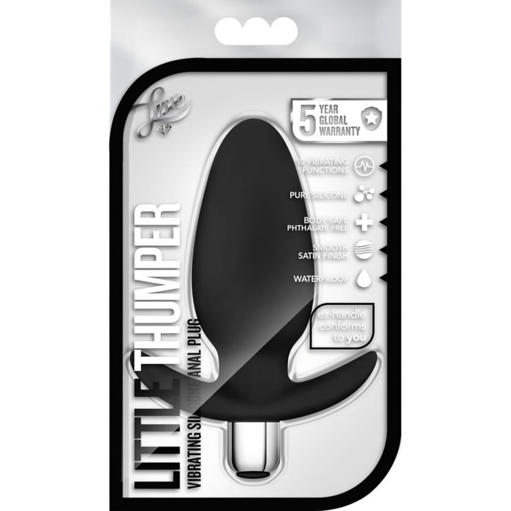 "Blush Luxe Waterproof Silicone Little Thumper Multifuction Vibe 4.75"" Black - View #1"