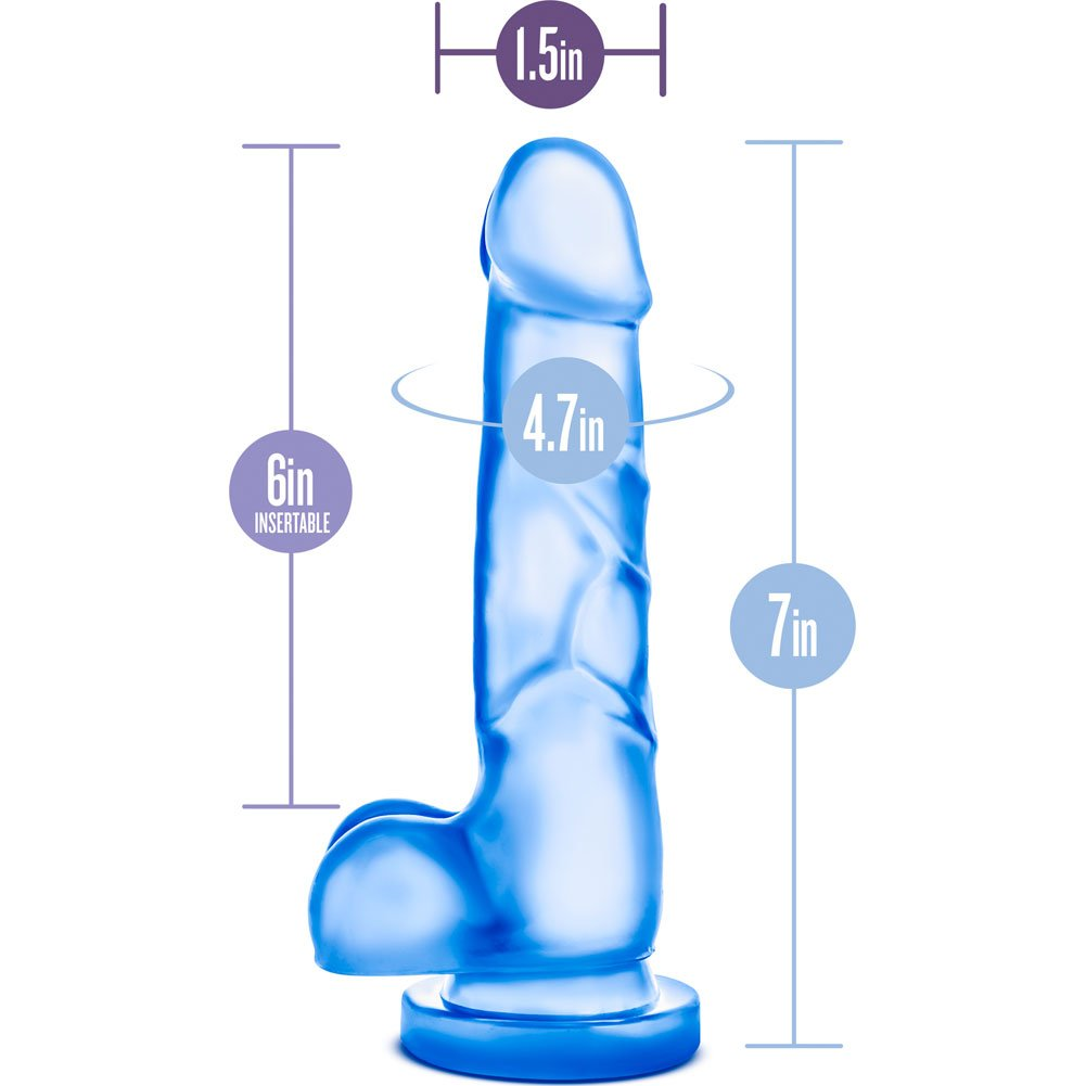 "Blush B Yours Sweet N Hard Number 4 Cock Dildo 7.75"" Blue - View #1"