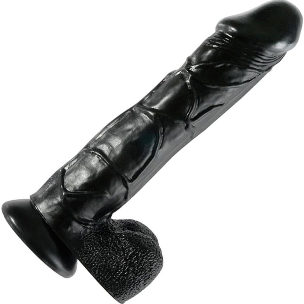 "Pipedreams Basix Rubber Works Mega Dildo 12"" Black - View #2"